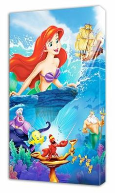 The Little Mermaid Ariel Disney Canvas Print Home Wall Decor Art Kids 75x40 Cm   eBay