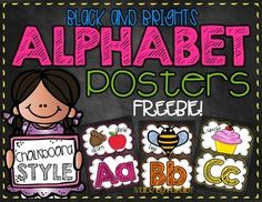 Get excited for going BACK-TO-SCHOOL with this alphabet FREEBIE! If you like this product, be sure to check out my entire Black & Brights Classroom Decor Pack found in my store! First Grade Classroom, New Classroom, Classroom Posters, Kindergarten Classroom, Classroom Themes, Classroom Organization, Dinosaur Classroom, Classroom Displays, Classroom Management