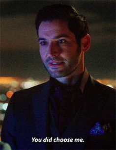 """""""I ask you - the devil - what do you really desire?"""" """"I want her to choose me. Lucifer Gif, Tom Ellis Lucifer, Lauren German, Tricia Helfer, Movies Showing, Movies And Tv Shows, Qoutes About Love, Morning Star, Star Wars"""