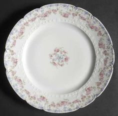 """""""433"""" china pattern with pastel pink & blue rose swag accents from Chas Field Haviland."""