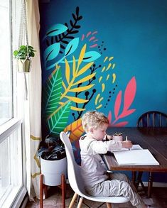 Do you love the look of colorful murals, but don't have a huge wall to use? I'm now offering MINI MURALS! Add a custom designed splash of color to any… – Renovation Kids Wall Murals, Mural Wall Art, Mural Painting, Murals For Kids, Paintings, Bedroom Murals, Bedroom Wall, Diy Bedroom, Wall Design