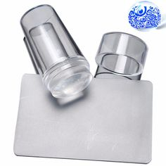 2016 Nail Stamping Plates Scraper Pure Clear Plastic Acrylic Silicone Scraper With Cap Transparent 2.8cm Stamp Nail Art Template