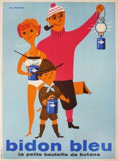 Bidon Bleu by Pierre Fix-Masseau 1950