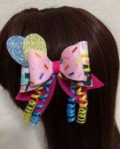 PREORDER Pinkie Pie Felt Hair Bow Kawaii by KawaNekoFashion