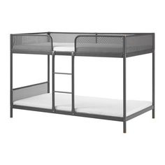 TUFFING Bunk bed frame IKEA A good solution where space is limited. The bed is lower than standard beds so that parents can see their child Bunk Beds For Boys Room, Bunk Bed With Desk, Bunk Beds With Stairs, Loft Beds, Metal Bunk Beds, Modern Bunk Beds, Cool Bunk Beds, High Beds, Kids Bedding Sets