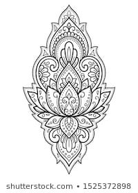 Find Lotus Mehndi Flower Pattern Henna Drawing stock images in HD and millions of other royalty-free stock photos, illustrations and vectors in the Shutterstock collection. Simple Mandala Tattoo, Mandala Sternum Tattoo, Geometric Mandala Tattoo, Mandala Tattoo Design, Mehndi Tattoo, Henna Tattoo Designs, Arm Tattoos Drawing, Henna Drawings, Body Art Tattoos