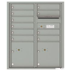 Versatile 10-Compartment Recess-Mount 4C ADA Mailbox, Silver Speck