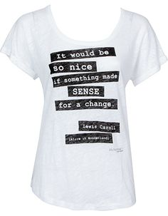 T-shirt Quote Linnen Wit