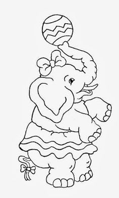 49 Best Elephant Embroidery Patterns Images Coloring