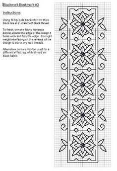 Lots of free patterns on this site, blackwork and cross stitch.