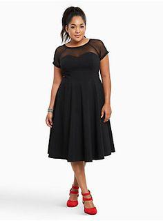 Mesh Inset Swing Dress torrid.com