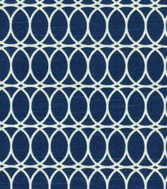 HGTV HOME Home Decor Print Fabric- Curl Up  Lapis
