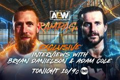 Bryan Danielson is back on Friday nights for the first time since April and Adam Cole has more to say. AEW All Out was closed out with the debuts of Bryan Danielson and Adam Cole. This past Wednesday, they made their Dynamite debuts, and now, they will be featured in interview segments on the September 10 edition of Rampage. AEW announced that they will be interviewed by the Countdown crew, further explaining why they are in AEW. Today our Countdown crew is interviewing the two huge new free age Brian Pillman, Adam Cole, Wrestling News, Free Agent, First Time, Two By Two, Interview, Friday Nights, September 10