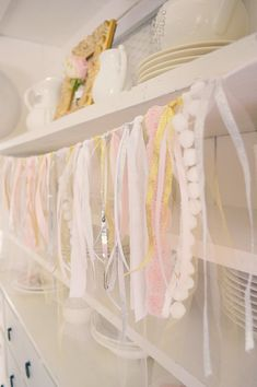 Ribbon and trims scraps bunting