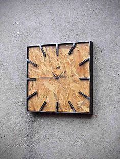 Metal Furniture, Industrial Furniture, Furniture Projects, Vintage Industrial, Metal Clock, Wood Clocks, Bedroom Wall Designs, Wall Watch, Metal Art Projects