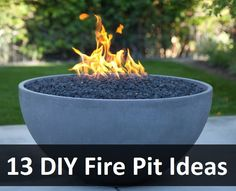 13 DIY Fire Pit Ideas...there is one with tree rings.... onlz $50 to make it. great look and cheap. love this! bring on a garden now and i got me a fire pit!