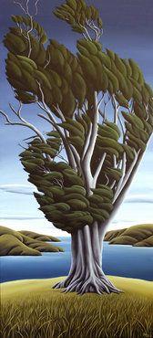 Ancient Totara (by Diana Adams, NZ) Nz Art, Art For Art Sake, Landscape Art, Landscape Paintings, Landscapes, Sculpture Art, Sculptures, New Zealand Landscape, New Zealand Art
