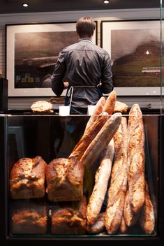 Craftsman and Wolves - San Francisco - love the juxtaposition - art on walls and bread