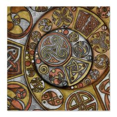 celtic steampunk crescents shower curtain an original work of celtic art to revitalize your bathroom