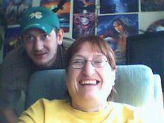 ian peeking over my shoulder... miss him every day ;(
