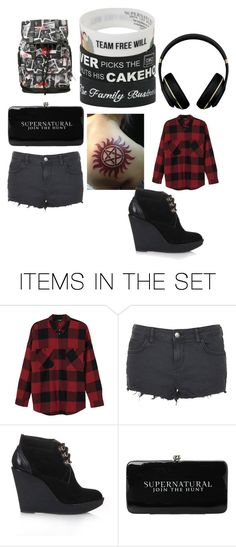 """""""Ready for Summer"""" by aryaalgesia ❤ liked on Polyvore featuring art, Summer, black, plaid and supernatural"""