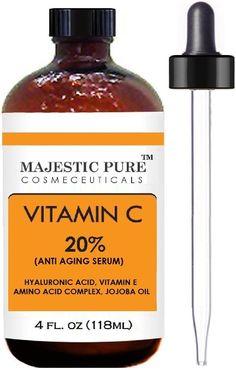 Majestic Pure Vitamin C Serum, Antioxidant, 4 Oz