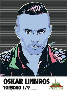 Oskar Linnros - poster by Kristian Russell