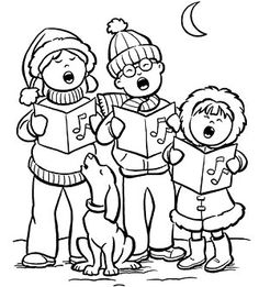 Printable Winter Coloring Pages Snow falls Kindergarten and