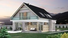 DOM.PL™ - Projekt domu HG-I22 CE - DOM AL1-92 - gotowy koszt budowy House Layout Plans, Dream House Plans, House Layouts, Front Porch Steps, Best Tiny House, House Made, Home Fashion, Gazebo, Outdoor Structures