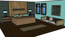 3D Model of bedroom