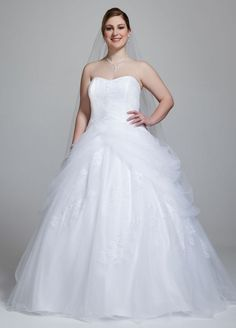 2a3e4d360fac3 Sample  Tulle Ball Gown Wedding Dress with Lace-Up Back and Side Swags -