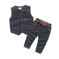 Cheap clothing babies, Buy Quality clothes carnival directly from China clothing fibers Suppliers: New Arrival Baby Boy Clothes Sets Plaid Gentleman Suit Infant Toddler Boys Vest+Pants Children Kids Clothing Set Outfits Age Boys Formal Suits, Girls Formal Dresses, Toddler Dress, Toddler Boys, Infant Toddler, Toddler Chores, Kids Outfits Girls, Baby Boy Outfits, Vest Outfits