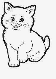 Gambar Mewarnai Kucing Memey Cat Colors Animal Coloring Pages