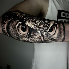 ideas eye tattoo realistic art for 2019 Eye Tattoo On Arm, Owl Eye Tattoo, Owl Tattoo Drawings, Owl Tattoo Small, Arm Band Tattoo, Lion Head Tattoos, Forarm Tattoos, Body Art Tattoos, Owl Tattoos
