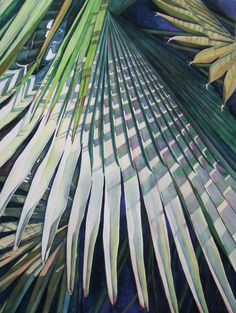 "Contemporary Painting - ""Palm Patterns"" (Original Art from Judy Nunno).  Watercolor"