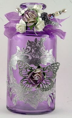 beautiful lilac altered bottle