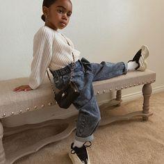 Fashion Kids, Baby Girl Fashion, Toddler Fashion, Cute Little Girls Outfits, Kids Outfits Girls, Toddler Outfits, Black Baby Girls, Black Child, Stylish Baby Girls