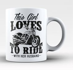 This Girl Loves to Ride with Her Husband - Mug