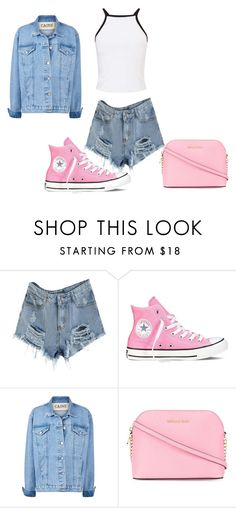 """25.09.2016."" by crazygirlandproud ❤ liked on Polyvore featuring Converse, MICHAEL Michael Kors and Miss Selfridge"
