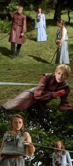Arya schools Joffrey