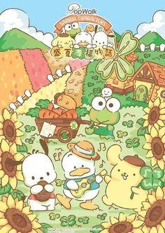 Sanrio Wallpaper, Iphone Wallpaper, Avocado Art, Hello Sanrio, Be Kind To Everyone, Pochacco, Retro Girls, Favorite Cartoon Character, Cute Poster