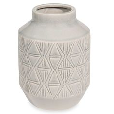 Vase en céramique grise H.21cm WHITE ISLAND