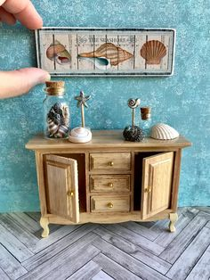 Miniature beach accessories nautical miniatures dollhouse