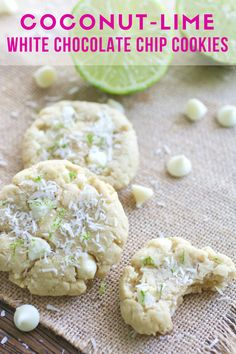Coconut-Lime White Chocolate Chip Cookies will help you feel like spring is here! You'll love these cookies!