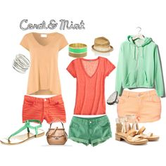 Coral & Mint, created on Polyvore