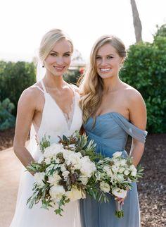 Breathtaking bride + bridesmaid style: http://www.stylemepretty.com/2016/03/09/summer-al-fresco-santa-barbara-wedding/ | Photography: Joel Serrato - http://joelserrato.com/