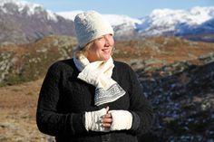 Norwegian cardigan knitted in wool with a contemporary Norwegian pattern Cardigans For Women, Knit Cardigan, Knitwear, Winter Hats, Wool, Sweaters, Pattern, Fashion, Moda
