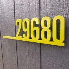 CUSTOM Retro Underline House Number Sign in Powder Coated Aluminum