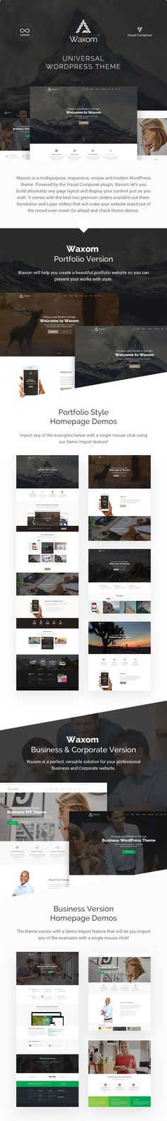 Waxom - Clean & Universal | Download: http://themeforest.net/item/waxom-clean-universal-wordpress-theme/13639831?ref=sinzo #WordPress #Theme - WordPress