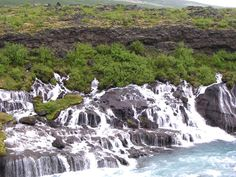 Hvítá River flood | Hallmundarhraun consists of pillow lava and is believed to have been ...